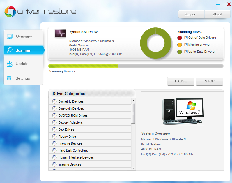 Update drivers in windows 7 - Using Driver Restore