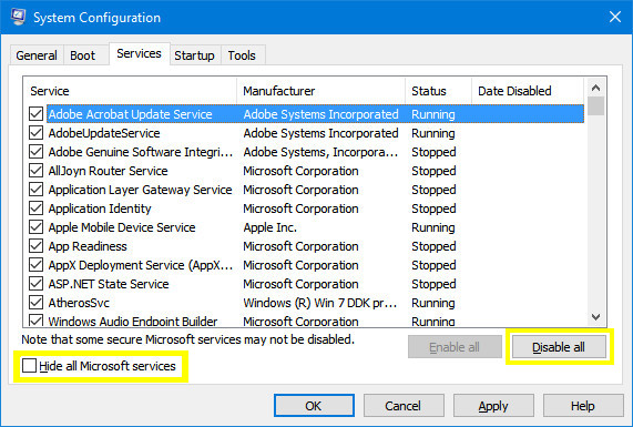 Windows 10 System Configuration