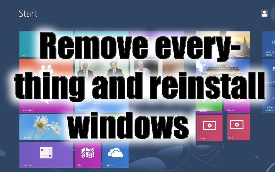 reinstall windows