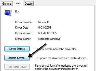 update-usb driver